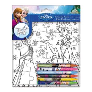 Frozen - Colouring Puzzle with 6 crayons