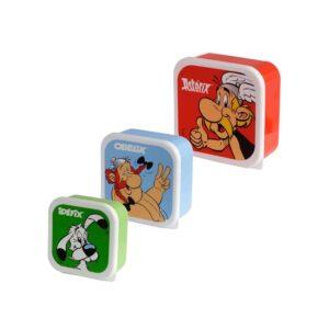 Asterix - Lunchboxes Set of 3 - Asterix, Obelix, Dogmatix (Idefix)-