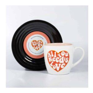 Beatles - L&M Love Mug and Saucer Set