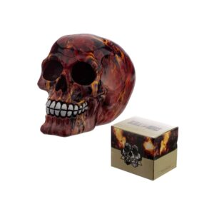 Marble Flame Effect Skull