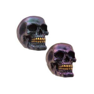 Dark Metallic and Gold Skulls