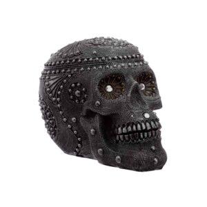 Silver Beaded Skull Head