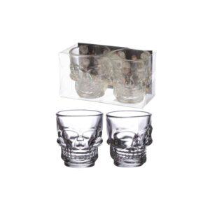 Skulls and Roses Shot Glasses Set of 2