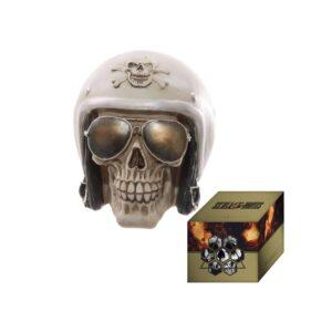 Skull with Helmet and Sunglasses