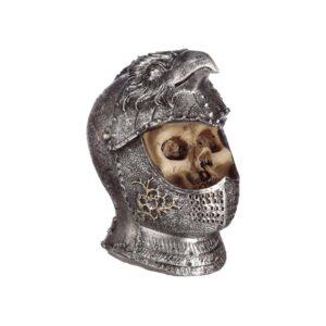 Skull Wearing Medieval Bird Head Helmet