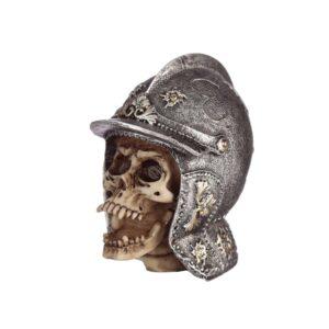 Skull Wearing Medieval  Helmet
