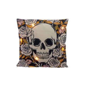 Skulls and Roses LED Cushion
