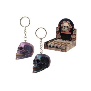 Skulls and Roses - Metallic Skull Keyring Random Selection