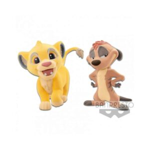 The Lion King - Simba & Timon Fluffy Q Posket Figures