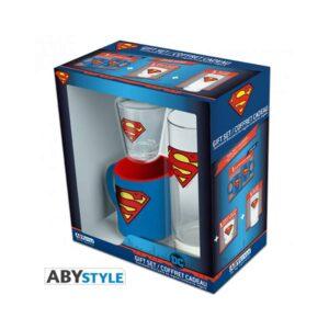 Superman - Glass, Shot Glass and Mini Mug Pack