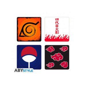 Naruto Shippuden - Emblems Coasters Set of 4