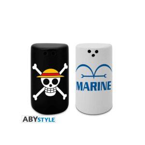 One Piece - Jolly Roger & Marine Salt & Pepper Shakers