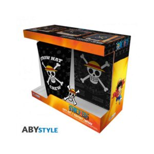 One Piece -  Jolly Roger XXL Glass, Pin and Pocket Notebook