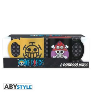 One Piece - Ace & Law Jolly Rogers  Esoresso Mugs 2-Pack